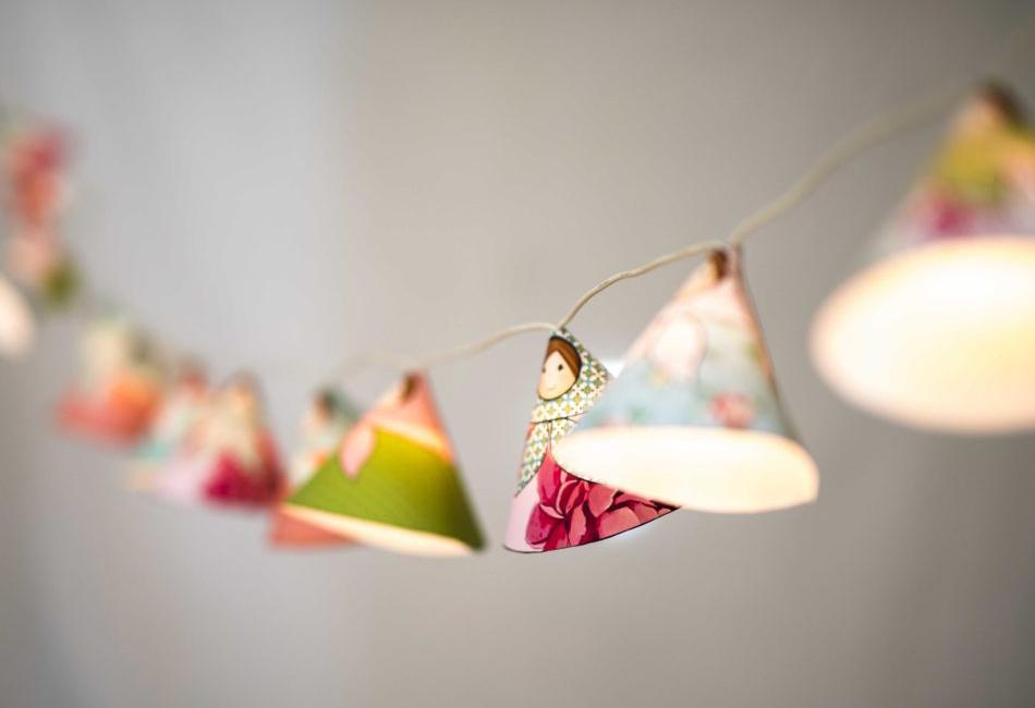 Guirlande lumineuse en papier